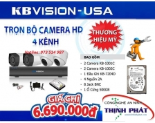 HỆ THỐNG 4 CAMERA KBVISION