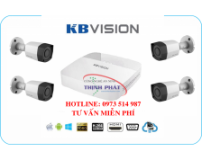 Trọn bộ 4 camera KBVISION 2.0MP FULL HD1080P